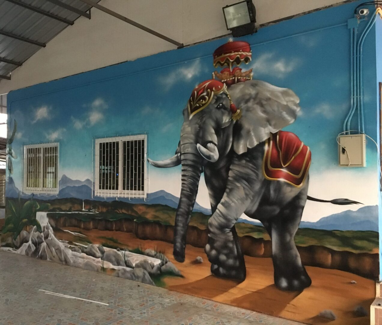 Mural of a royal elephant